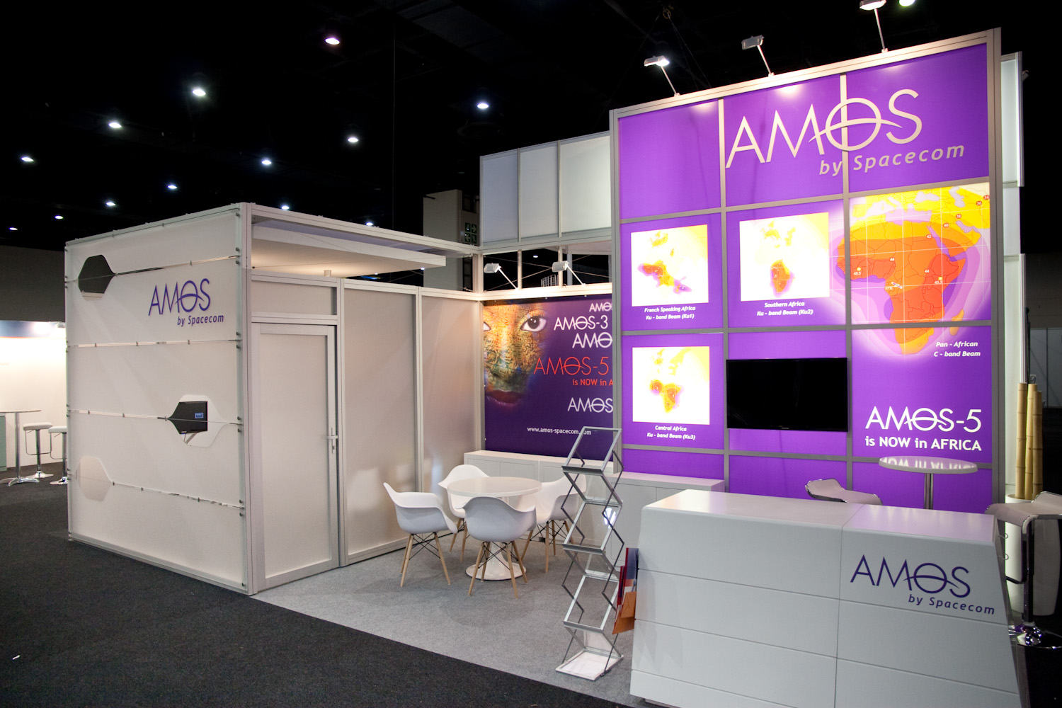 Exhibition Stand Builders Cape Town : Amos spacecom satcom sandton convention octanorm