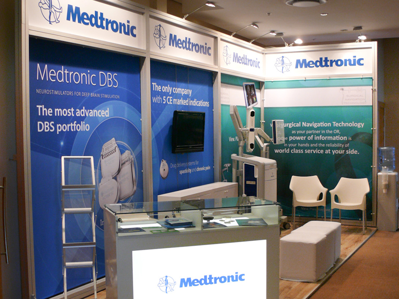 Marketing Exhibition Stand Builders : Medtronic creatori medical wssfn boe conference centre