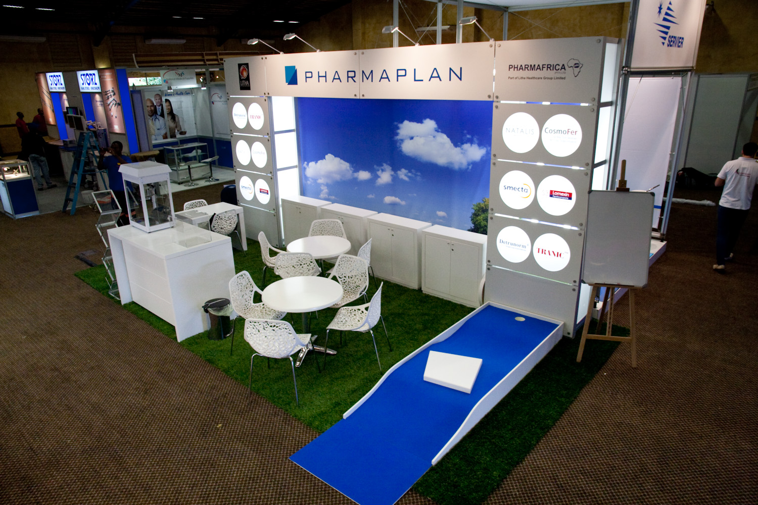 Exhibition Stand Builders South Africa : Pharmaplan litha sasog octanorm modular exhibit