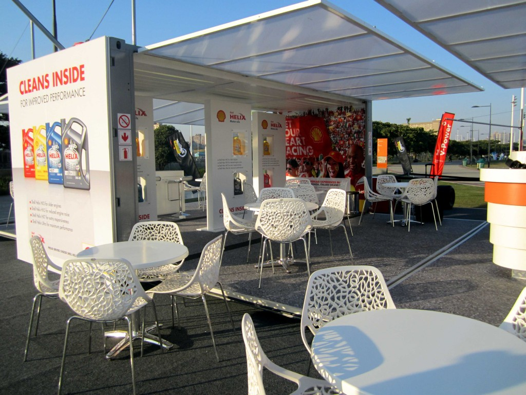 Exhibition Shell Yard : Experiential marketing shipping container conversion for