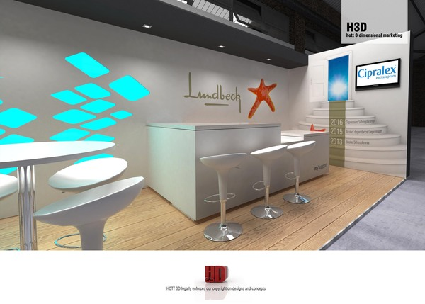 Lundbeck - expo stand design south africa