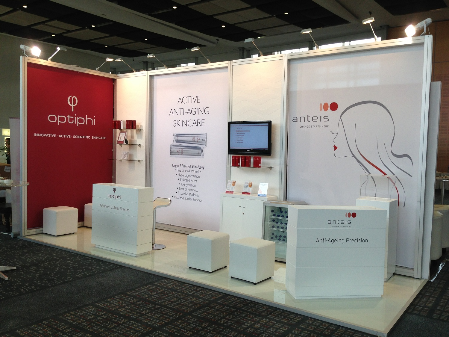 Exhibition Stand Medical : Exhibition design optiphi and leenyx world congress of