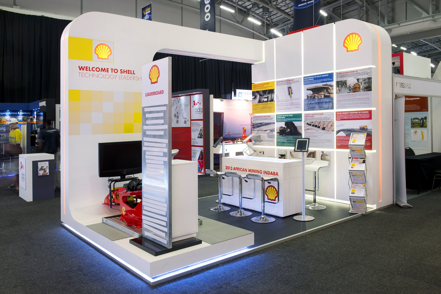 Trade Event Stands : Mining indaba hott d exhibition stands for clients shell
