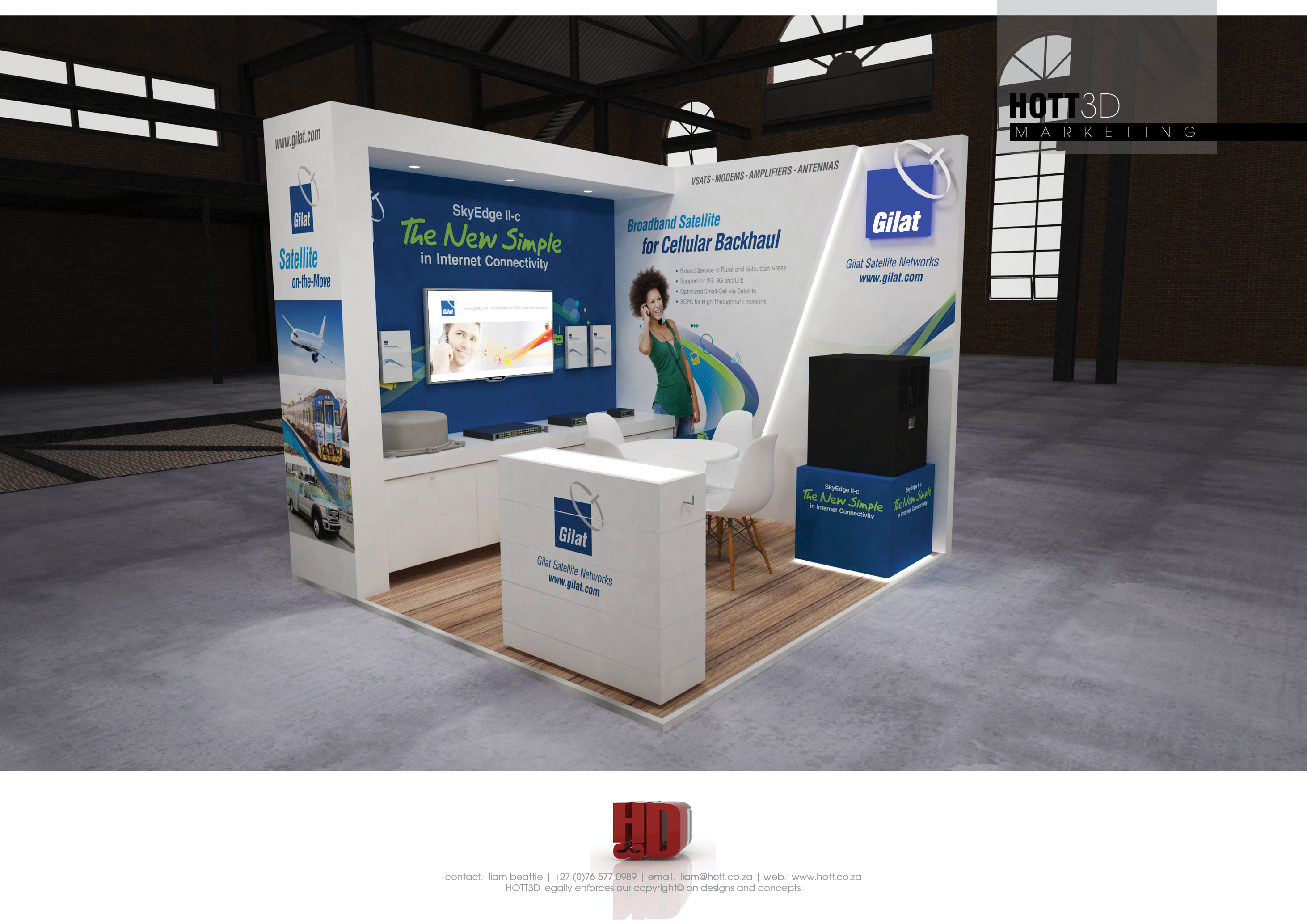 Exhibition Stand Builders Cape Town : Gilat africacom hott d full custom exhibition stand