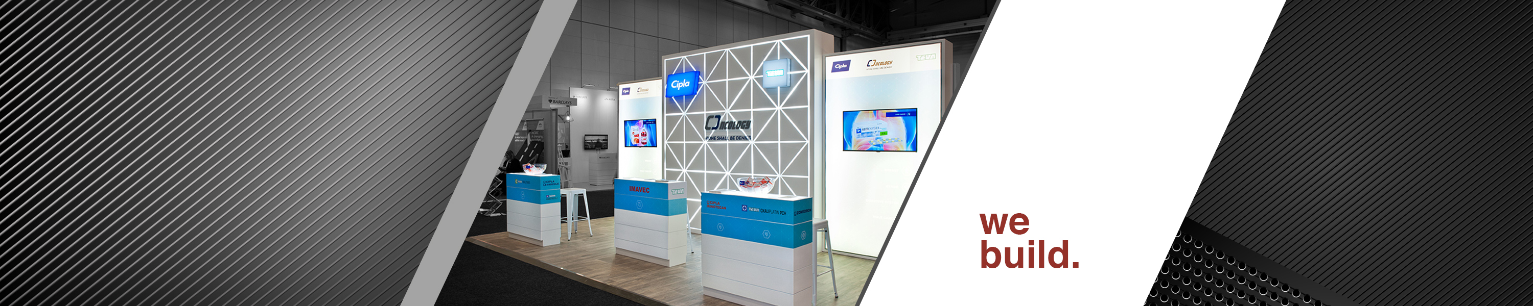 Cipla, HOTT3D, custom exhibition stand