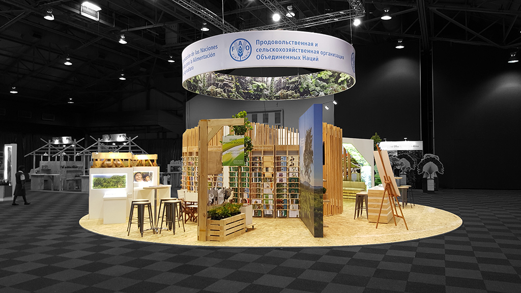 FAO, HOTT3D, custom exhibition stands, exhibition stands sa