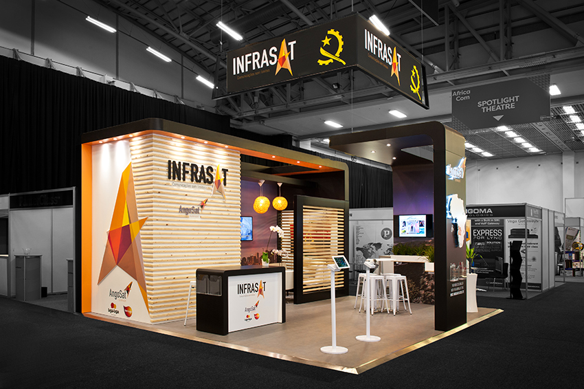 Custom Exhibition Stand Examples : Custom exhibition stand hott d for infrasat