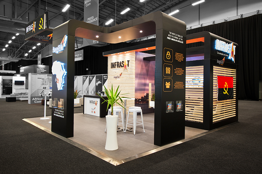 Custom Exhibition Stand Job : Custom exhibition stand hott d for infrasat